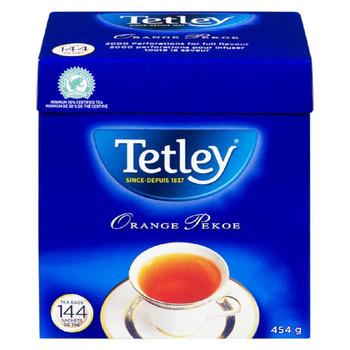 Tetley Tea, Orange Pekoe - 144 Count Tea Bags (Imported from Canada}