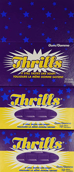 Thrills Chewing Gum, 10 Count - 20 Pack {Imported from Canada}