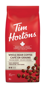 Tim Hortons Whole Bean Original Blend Coffee, 300g/10.6oz, {Imported from Canada}
