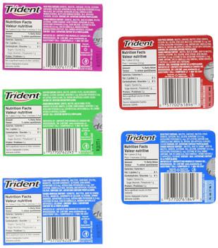 Trident - 24 pack - 8x Spearmint, 6x Very Berry, 6x Peppermint, 2x Vanilla Mint Splash, 2x Strawberry Kiwi Splash