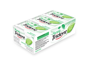 Trident Purely Trident Spearmint Chewing Gum, 12ct x 14pcs, (Imported from Canada)