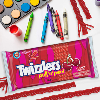 Twizzlers Cherry Pull N Peel Party Pack, 396g/14oz {Imported from Canada}