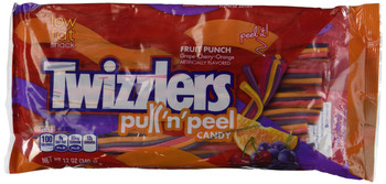 Twizzlers  Pull 'n' Peel Fruit Punch Licorice, 12 oz. (340g) Bag, {Canadian}