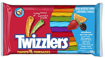 Twizzlers Rainbow Twists, 350g/12.34 oz.{Imported from Canada}