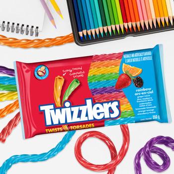 Twizzlers Rainbow Twists, 350g/12.3 oz.{Imported from Canada}