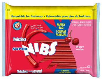 Twizzlers Super Nibs Cherry Flavored (623g / 22oz per pack){Canadian}