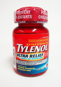 TYLENOL ULTRA RELIEF Extra Strength 120 EZTabs For Tension Headaches & Migraine Pain