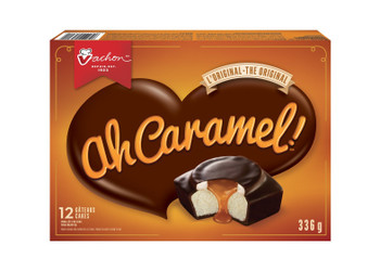 Vachon Ah Caramel! Cake, 1 Count, 336g/11.9 oz.,  {Imported from Canada}