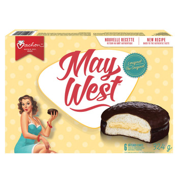 Vachon May West White Sponge Cakes 1 Box, 324g/11.4oz., {Imported from Canada}
