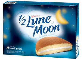 Vachon Vanilla 1/2 Lune Moon Cakes, 280g/ 9.9oz {Imported from Canada}