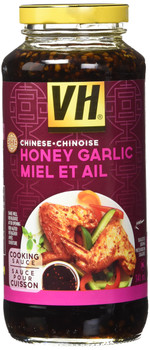 VH Honey Garlic Cooking Sauce (12 Pack), 341ml/11.5oz/Jars, (Imported from Canada)