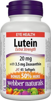 Webber Naturals Extra Strength Lutein with Zeaxanthin Softgel {Canadian}