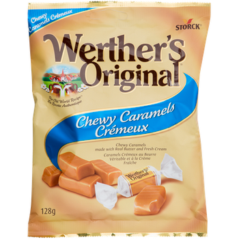 Werther's Original Chewy Caramels Candy, 128g/4.5oz, (Imported from Canada)