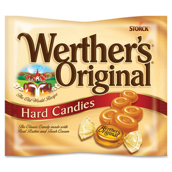 Werther's Original Hard Caramels Candy 135g/4.8oz, (Imported from Canada)