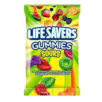 Wrigleys Life Savers Gummies Sours  180g/6.3oz {Imported from Canada}