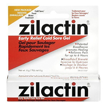 Zilactin Gel Cold Sore Gel 6g {Imported from Canada}