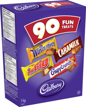 Cadbury Halloween Treats Chocolate, 90ct Wunderbar, Mr. Big, Caramilk, Crispy Crunch {Imported from Canada}