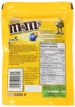 M&M's Peanut Candies Stand up Pouch 200g/7.05oz (Imported from Canada)