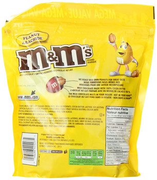 M&M's Peanut Candies, Celebration Size, Stand up Pouch, 1kg/35oz.(Imported from Canada)