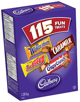 Cadbury Halloween Fun Treats Chocolate, 115ct (Imported from Canada)