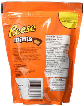 REESE Chocolate Candy Peanut Butter Cups, Minis, 400g/14.1oz. (Imported from Canada)