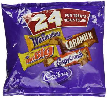 Cadbury Halloween Chocolate, Wunderbar, Mr. Big, Caramilk, Crispy Crunch, 24pk, 267g/9.31 oz. {Imported from Canada}