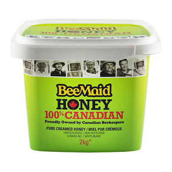 Bee Maid Creamed Honey,  2 Kilograms/4.4 Pounds {Imported from Canada}