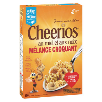 Cheerios Honey Nut Medley Crunch Cereal, 430g/15oz, (Imported from Canada)