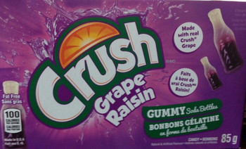 Crush Grape gummy soda bottles 85g/3 oz., Box {Imported from Canada}