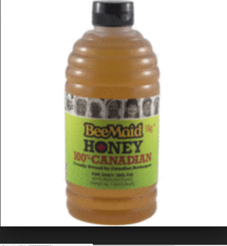 Bee Maid Pure Honey 100% Canadian White, 1kg/2.2 lbs.,  {Canadian}