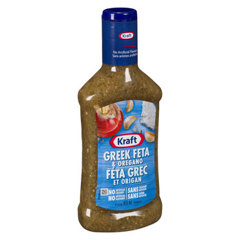 Kraft Greek Feta & Oregano Salad Dressing, 475mL/16oz. Bottle (Imported from Canada)