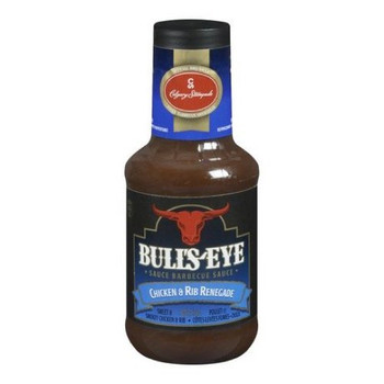 BULL'S-EYE Chicken & Rib Renegade BBQ Sauce, 425ml/14oz. {Imported from Canada}