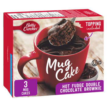 Betty Crocker Mug Cake Hot Fudge Double Chocolate Brownie With Fudge Topping, 294g/10.4 oz., {Imported from Canada}