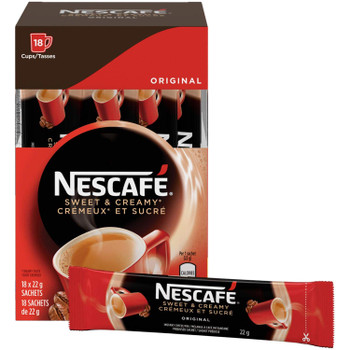Nescafe Sweet & Creamy Original Sachets, 18ct x 22g, (Imported from Canada)