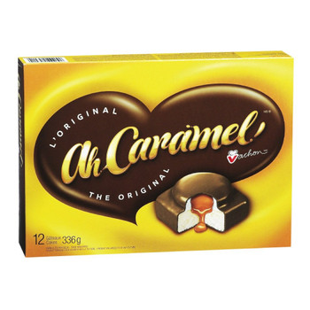 Vachon Ah Caramel Cakes, 336g/11.6 oz. Each (8 Box) 12 Cakes  {Imported from Canada}