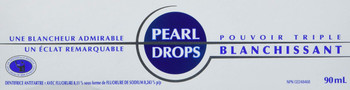 Pearl Drops Triple Power Whitening Toothpaste, 3.04 Fl Oz / 90ml (Imported from Canada)