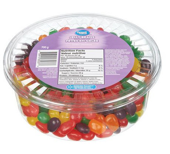Great Value, 700g/1.5 lb, Tub of Jelly Beans, {Imported from Canada}