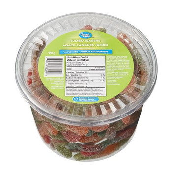Great Value, 950g/2.1lbs, Tub of Jumbo Gummy Teasers, {Imported from Canada}