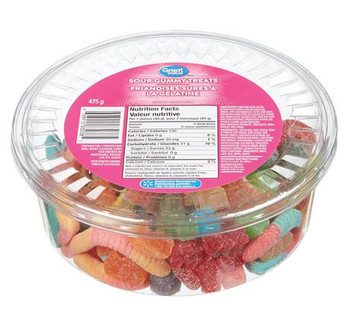 Great Value, 475g/1.04lbs, Tub of Sour Gummy Treats, {Imported from Canada}