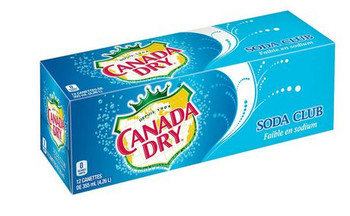 Coca-Cola, Canada Dry Club Soda, 355ml/12 oz.,, 12pk, {Imported from Canada}