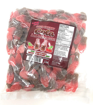Gummy Zone, Sour Cherry Cola Candy, 1kg, 2.2lbs, {Imported from Canada}