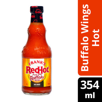 Frank's RedHot, Hot Sauce, Hot Buffalo Wings, 354ml/12 oz, {Imported from Canada}