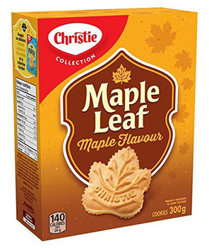 Christie Maple Leaf Maple Flavour Cookies, 300g / 10.6oz {Imported from Canada}
