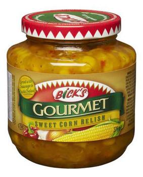 Bicks Jar of Sweet Corn Relish, 375ml/12.7 fl.oz., {Imported from Canada}