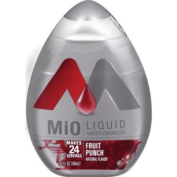 MiO Fruit Punch Liquid Water Enhancer, 48ml/1.62oz,(Imported from Canada)