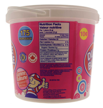 Dubble Bubble Classic 175 count Bubble Gum Tub - 1.05kg/2.3lbs., {Imported from Canada}
