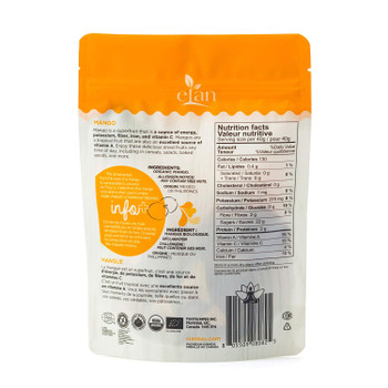 ELAN Organic Mango Slices, 125g/4.4oz., {Imported from Canada}