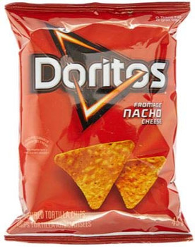 Box of Doritos Nacho Cheese Chips (48ct x 45g/1.6oz) (Imported from Canada)