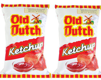 Canadian Old Dutch Potato Chips, Ketchup, Large Family size - 2-Pack {Imported from Canada}