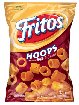 Frito Hoops BARBQ Corn Chips 370g/13oz Bag {Imported from Canada}